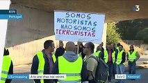 Eurozapping : pénurie d'essence au Portugal ; ravageuse coulée de boue en Suisse