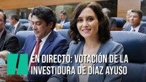 EN DIRECTO: Votación de la investidura de Díaz Ayuso