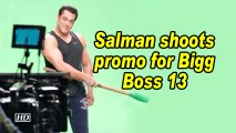 Salman shoots promo for Bigg Boss 13