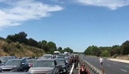 A9 : L'autoroute fermée dans les 2 sens suite à un accident au niveau de Fabrègues