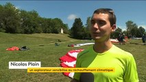Parapente, vélo, rando .... il traverse les Alpes sans Co2 pour sauver la planète