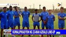 Kuwalipikasyon ng 23-man Azkals line-up