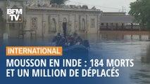Mousson en Inde: 184 morts dans les inondations et un million de déplacés