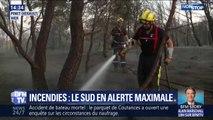 Incendies: les pompiers du sud de la France en alerte maximale