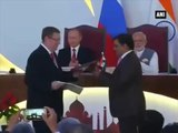 Watch- MoUs being signed between India and Russia