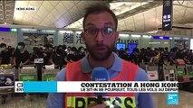 Contestation à Hong Kong : le sit-in se poursuit, tous les vols au départ annulés