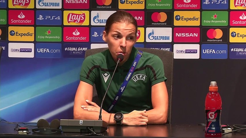 Frappart on becoming first female to officiate a major European men's final