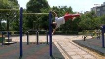 ¿Caminar por el aire? ¡Este atleta chino lo hace sin ningún esfuerzo!