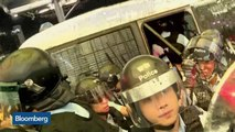 Hong Kong Protesters Clash With Police Inside Airport