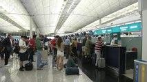 홍콩 공항 또 출발 항공편 전면 취소...中 개입 우려 / YTN