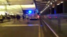 Hong Kong police chase after protesters following police vehicle vandalization at airport
