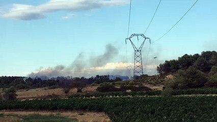 PINET - Important feu de pinède, 3 hectares ont déjà brûlé