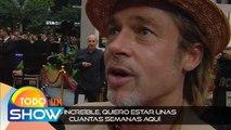 ¡La CDMX enloqueció con la llegada de Brad Pitt! Guapísimo y derrochando carisma. | Todo Un Show