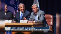 Congressman Kevin McCarthy among 70 Congress members in Israel