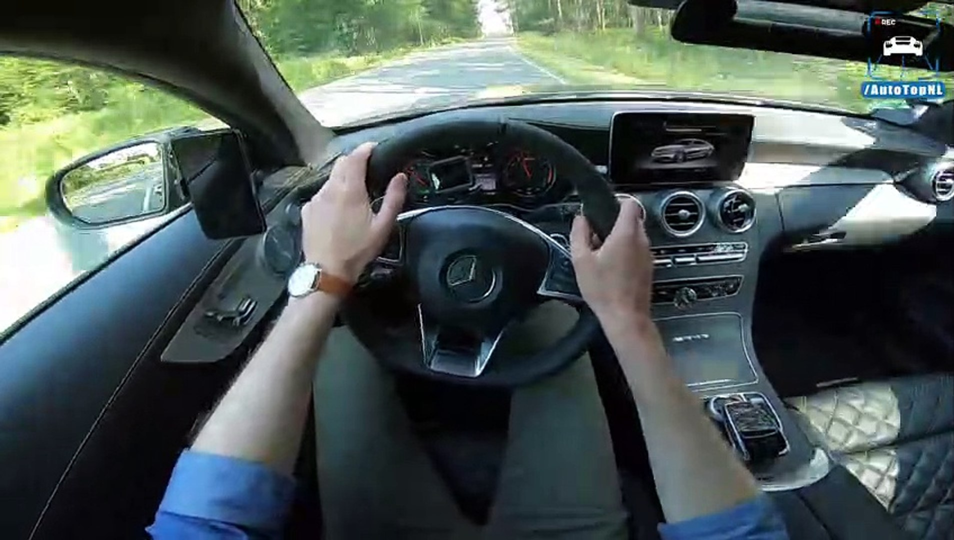 Mercedes AMG C63 R 745HP REVIEW POV Test Drive on AUTOBAHN & ROAD by  AutoTopNL