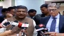 Microsoft CEO Bill Gates Meets Union Minister Ravi Shankar Prasad