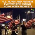 U.S. Flags Everywhere during Hong Kong Protests
