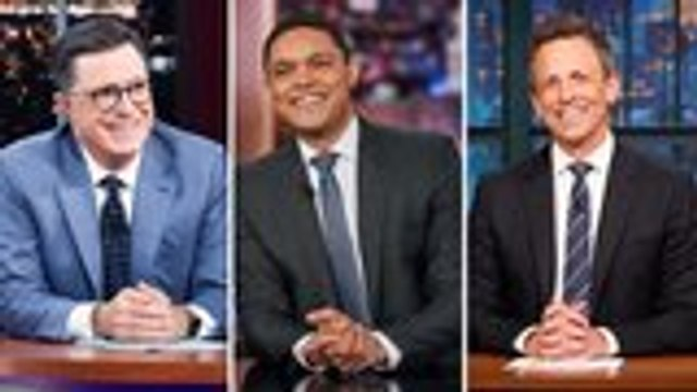 Late-Night Hosts Poke Fun at Trump for Promoting Jeffrey Epstein Conspiracy Theory   THR News