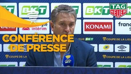 Conférence de presse ESTAC Troyes - RC Lens (1-2) : Laurent BATLLES (ESTAC) - Philippe  MONTANIER (RCL) - 2019/2020