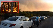 Eskişehir'deki orman yangını saatlerdir söndürülemedi! Yangını söndürme çalışmalarına gençler kürekler ile destek oluyor