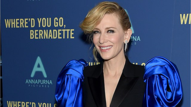 Cate Blanchett Wears 1980's Styled Pants Suit To Premiere