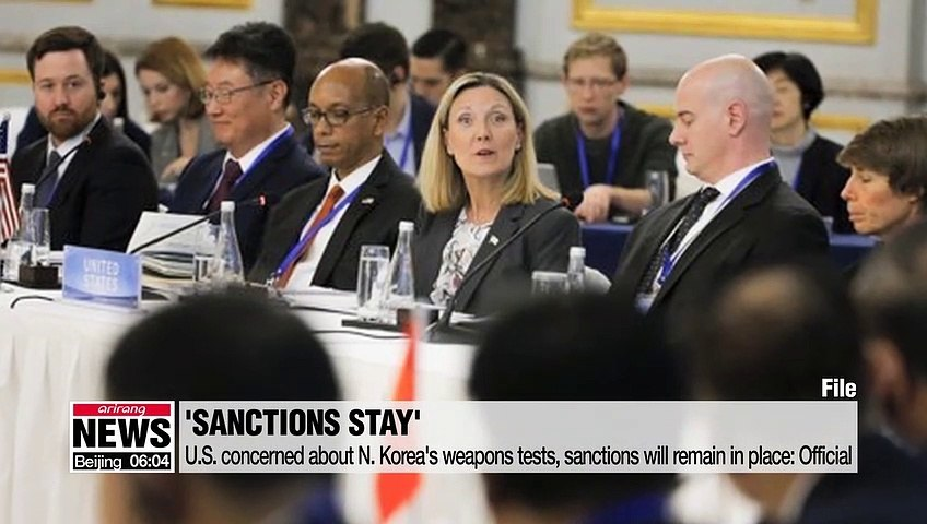 U.S. concerned about N. Korea's weapons tests, sanctions will remain in place: Official