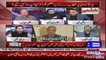 Irshad Bhatti Bashing Answer To Journalist Anjum Rasheed Who Critisizing Kashmir Policies Of Imran khan