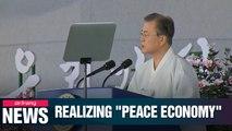 Moon pledges to establish prosperous 'peace economy'