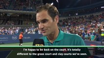 Federer thrilled with return to action