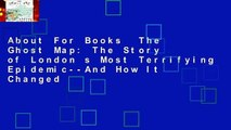About For Books  The Ghost Map: The Story of London s Most Terrifying Epidemic--And How It Changed