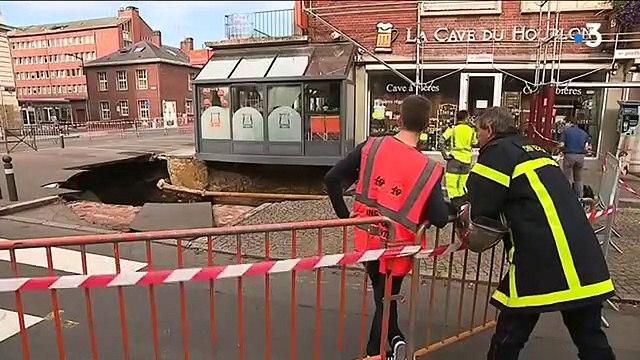 On sait d'où provient le trou de dix mètres de large en plein centre-ville d'Amiens