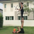 Couple Tries Knife Juggling Trick With a Twist
