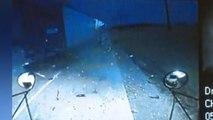 Vastgelegd op camera: Vrachtwagen crasht tegen schoolbus