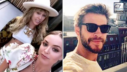 Liam Hemsworth's Reaction On Miley-Kaitlynn's Make Out Session!