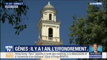 Une minute de silence observée pour les 43 victimes de l'effondrement du pont Morandi à Gênes