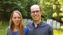 Michel et Violette ont quitté l'eurométropole strasbourgeoise pour devenir apiculteurs professionnels à Dabo.