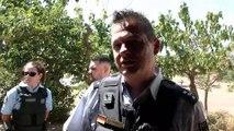 Axel Sommer, policier allemand en visite à Celles, sur les bords du lac du Salagou