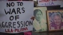 Familias de las esclavas sexuales filipinas exigen un perdón de Japón