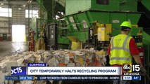 City of Surprise temporarily halts recycling program