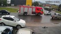 Ce camion de pompiers était involontairement pile au bon endroit au bon moment