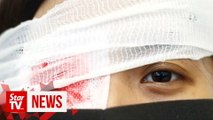 What is the eye-patch protest in Hong Kong?