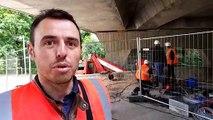Metz - Le pont de 800 tonnes Victor-Demange soulevé pour mesures