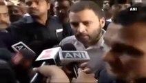 Rahul Gandhi Queues Up Outside SBI Bank In Delhi