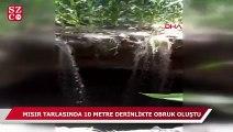 Mısır tarlasında 10 metre derinliğinde obruk oluştu