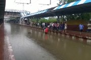 Rain affects local service; Water on the railway tracks