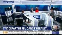 """Incendie dans l'Hérault: 200 pompiers mobilisés avec le but de """"maîtriser le feu avant la tombée de la nuit"""" (pompiers)"""