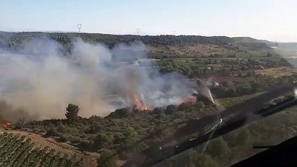 INCENDIE - Important feu de pinède à Cebazan, 25 hectares ont déjà brûlé