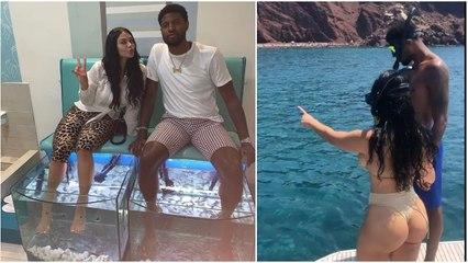 Paul George exploring the Greek Islands with his girlfriend