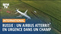 Russie: un airbus atterrit en urgence dans un champ de maïs