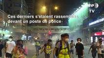 Hong Kong: la police tire du gaz lacrymogène sur des manifestants pro-démocratie